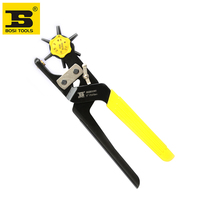 Free Shipping BOSI Leather Hole Punch Hand Pliers Belt Holes Punches Plastic Rubber