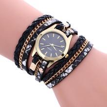 Роскошные ткань кожаный браслет часы Для женщин модные элегантные дамы кварцевые наручные часы relogios femininos hombre часы # D