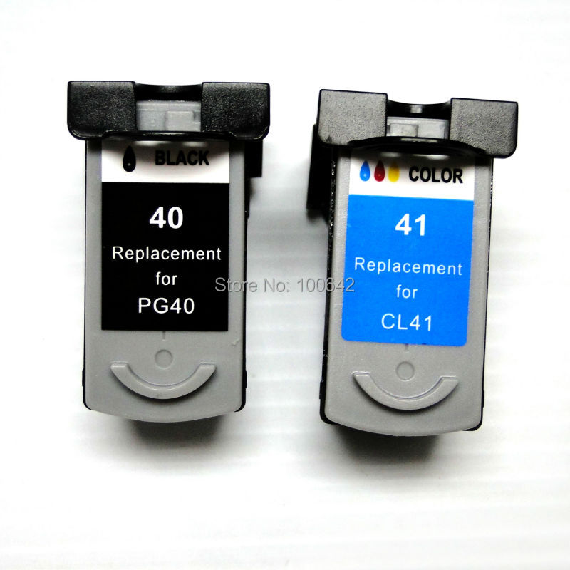 1set PG 40 CL 41 Remanufactured ink cartridge PG40 CL41 for Canon PIXMA IP2500 IP2600 MX300