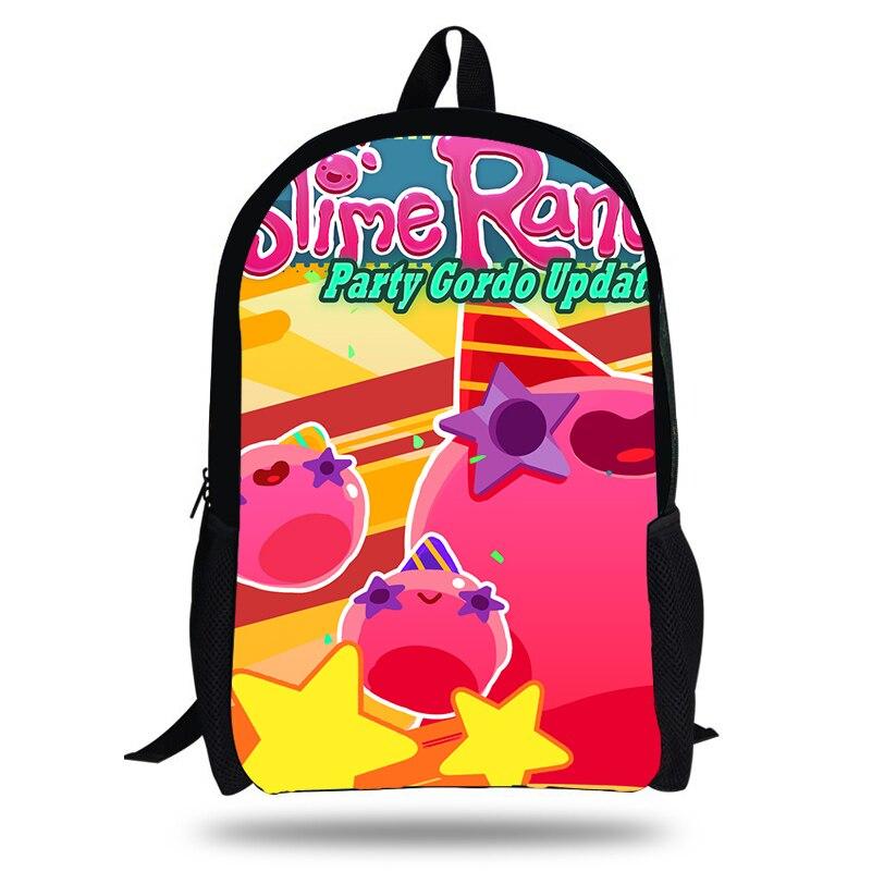 KOLLEGG Cute Slime Rancher Printing Children Softback Backpack Travel Mochila School Backpacks For Teenager Girls Bags