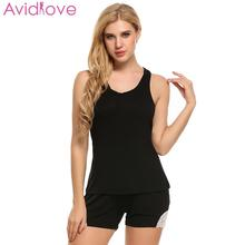Aidlove 2018 Lace Women's Pajamas Lingerie Sets Top Lace Sleepwear Shorts Pajama & Round Neck Slim Tank Women