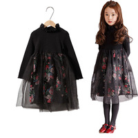 Autumn S Burst Big Boy Girl Dresses In Cotton Floral Paragraph Korean Princess Dress A