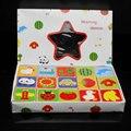 30 ШТ. Животные и фрукты дети Соответствующие Домино дети Строительные блоки образовательные игрушки Бесплатная доставка