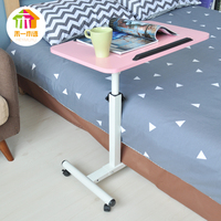 New Bed Desk Laptop Stand with Household Lifting Folding Mobile Bedside Table Home Writing Desktop Computer Desk