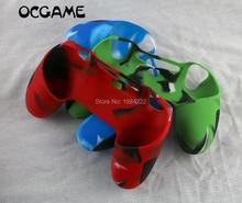 OCGAME بالجملة لينة سيليكون المطاط الحال المزدوج رشاقته سمكا الجلد الغطاء الواقي ل PS4 تحكم 30 قطعة/الوحدة