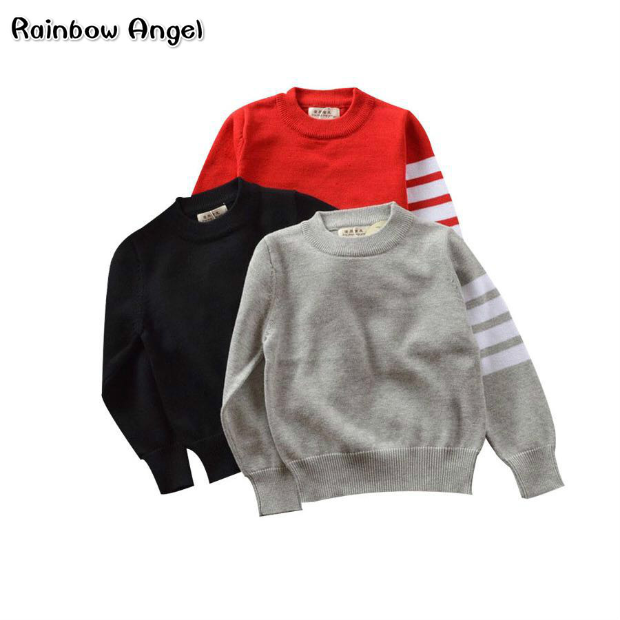 Brand Boys Girls Sweater Kids Pullover High Quality Wool Knitwear O-Neck Long-Sleeve School Boys and Girls Sweater