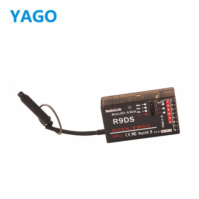 Original R9DS 2.4G 9CH Receiver for RadioLink AT9 Remote Controller Radio Link Receiver Transmitter RC Multirotor Support S-BUS
