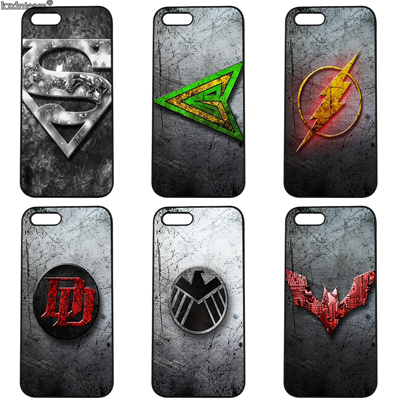 Marvel Comics Logo Painted Colourful Phone Cases Hard PC Cover for iphone 8 7 6 6S Plus X 5S 5C 5 SE 4 4S iPod Touch 4 5 6 Shell