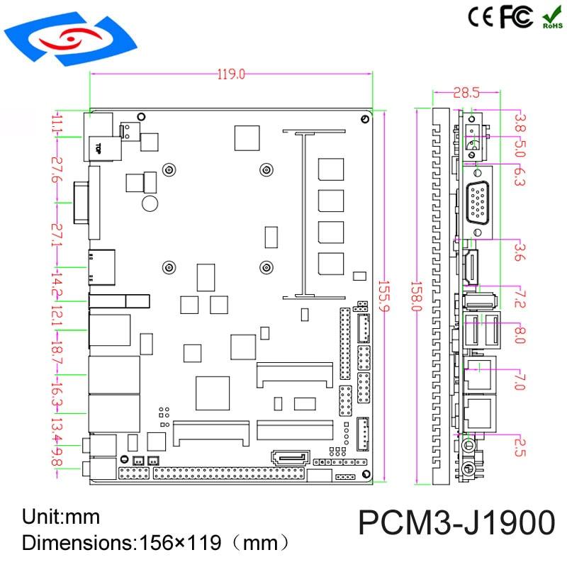 Купить с кэшбэком Intel J1900 processor Dual Lan Industrial Embedded MINI-ITX Motherboard With 4 Serial Ports Support 3G WIFI Mainboard