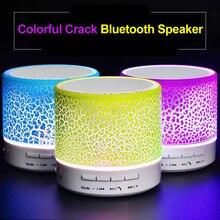 цена на Led Bluetooth Speaker wireless altavoz parlante bocina enceinte soundbox caixinha de som Mini portable crack colorful glare