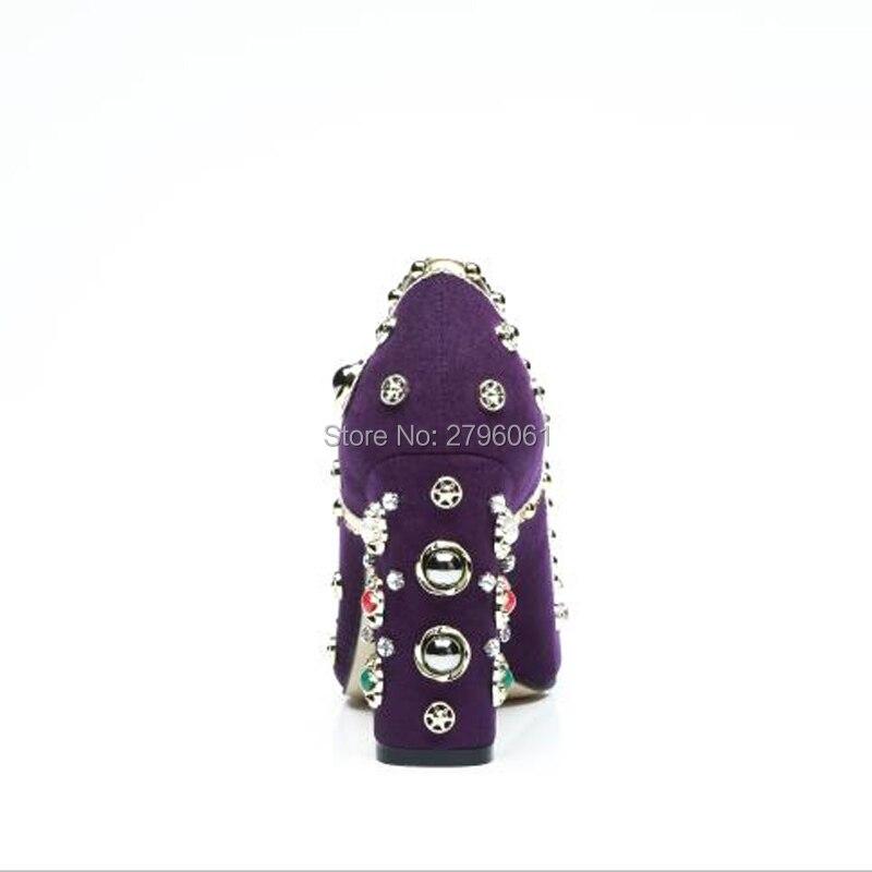 Main La Perle Cm Fait De Chaussures Haute Pompes Femmes Pourpre Talons 10 Luxe À XY5SqqxE
