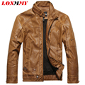 LONMMY M-3XL Male leather jacket Slim Stand collar Faux Suede coat PU Leather jacket men Casual jaqueta de couro 2016 Autumn