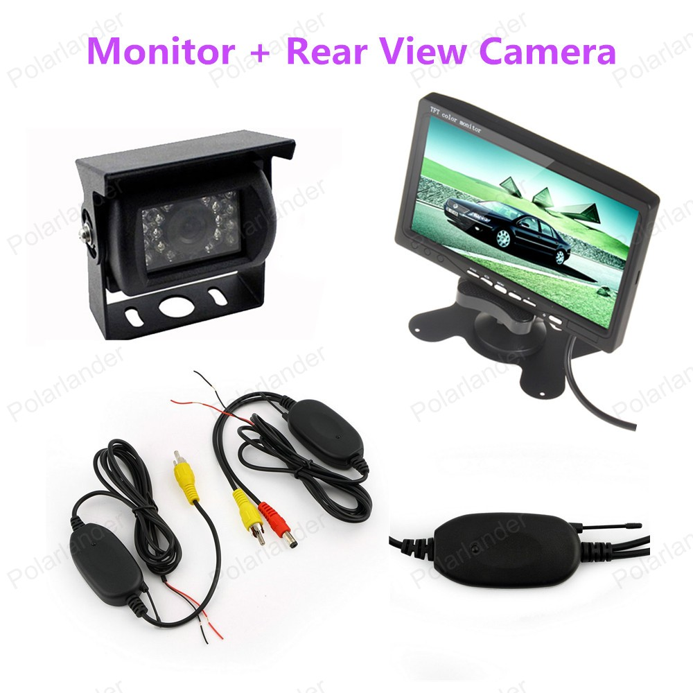 7 inch 480x234 Resolution TFT LCD Mirror Car Parking Rear View Monitor With 2 Video Input Connect Rear car Camera diykit 9 inch tft lcd display rear view car mirror monitor with 2 video input for parkign system car ccd camera cam dvd