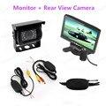 7 polegada 480x234 Resolução TFT LCD Espelho Estacionamento Rear View Monitor Com 2 Entrada de Vídeo Conectar Rear Câmera do carro