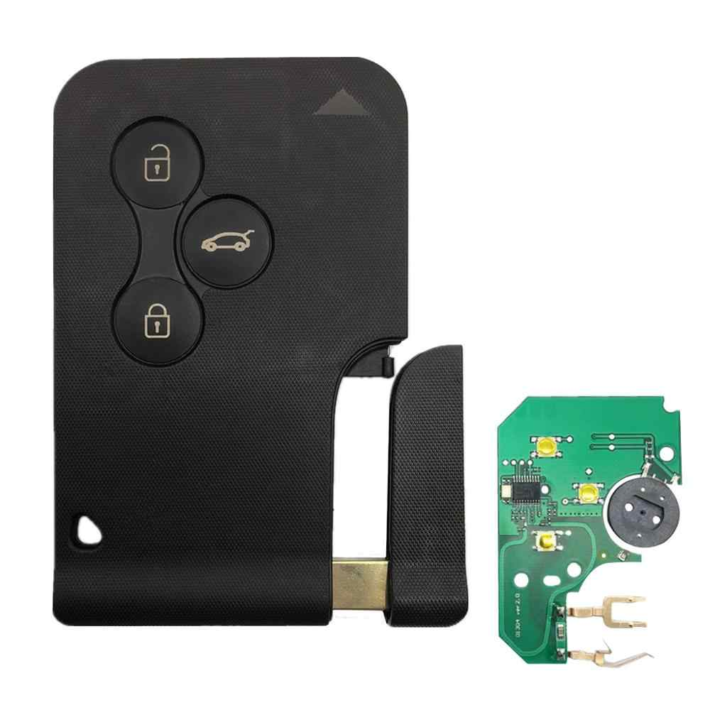 3 Button 433Mhz 7947 Chip With Emergency Insert Blade Smart Remote Key For Renault Megane Scenic 2003-2008 Card