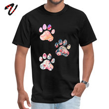Prevalent Floral Paw Print Trio Cool T Shirt Round Neck Pure Rowing Men Short Vaporwave Summer Tops Shirts