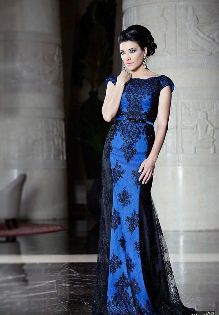 Vestidos de novia con encaje y azul – Vestidos de moda de esta temporada
