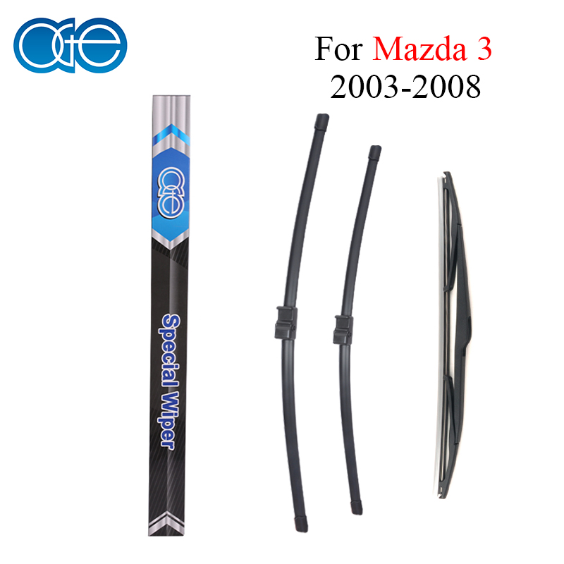 Oge Front And Rear Wiper Blades For Mazda 3 2003 2004 2005 2006 2007 2008 High Quality Windscreen Wipers Rubber Car <font><b>Accessories</b></font>