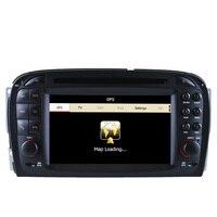 Бесплатная доставка; Модель 2016 года лучшие профессиональные wince Автомобильный мультимедийный Системы DVD Радио для Mercedes SL R230 2001 2004.6 с GPS Navi BT г