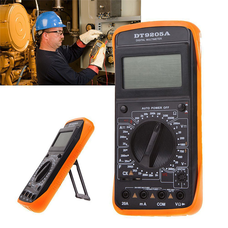 DT 9205A Digital Multimeter Multimetro Ammeter Multitester AC DC LCD Display Professional Electric Handheld Tester Meter|Multimeters| |  -