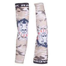 2016 Camouflage Cycling Arm Warmers Breathable Running Compression Sleeves UV Protection Bike Bicycle Cuff Manguitos
