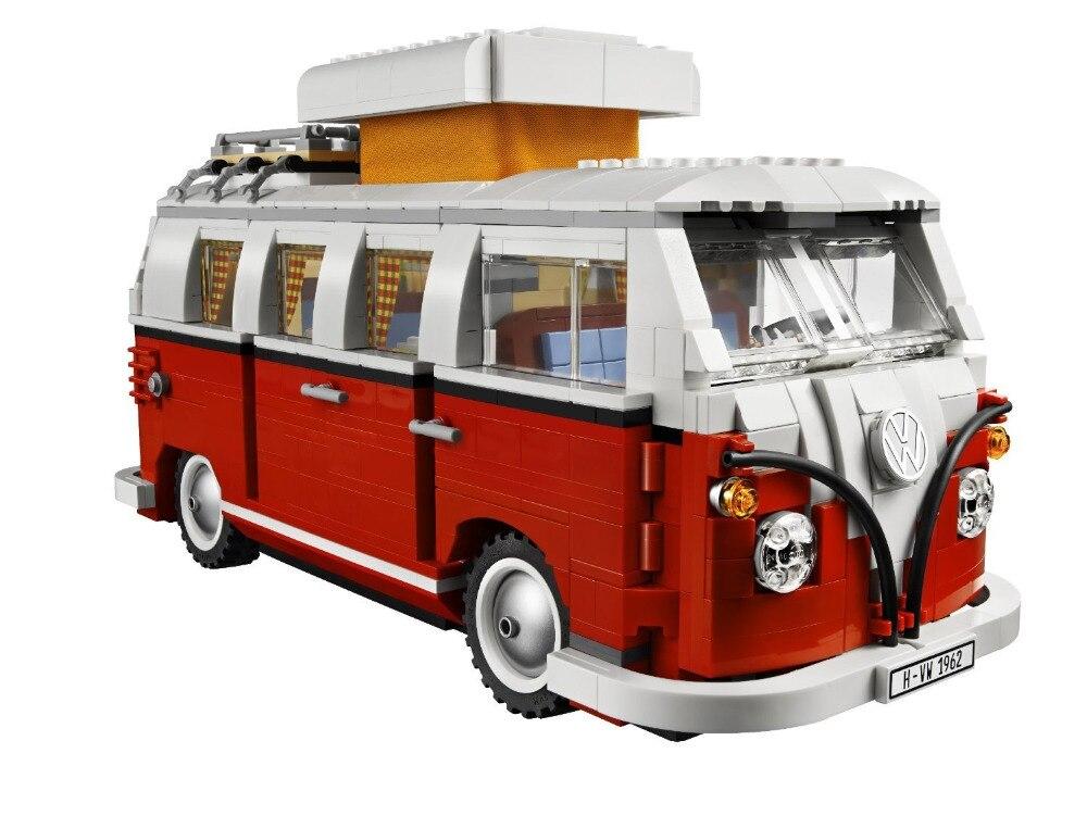 ФОТО New LEPIN 21001 Creator Volkswagen T1 Camper Van Model Building Kits  Bricks Toys Compatible Legoe