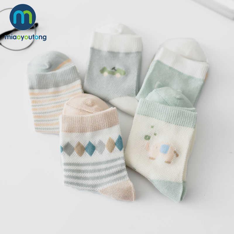 5 пар/лот, тонкие хлопковые носки для новорожденных мальчиков с принтом «банан», носки для маленьких девочек, Skarpetki Meia Infantil Miaoyoutong