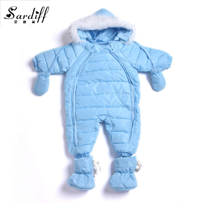 2017 Chirldren's Clothing Girl Boys Duck Down Baby Easter Jackets Snowsuit Girls Newborn Hood Clothes Snow Suits Infant Outwear 2016 winter boys ski suit set children s snowsuit for baby girl snow overalls ntural fur down jackets trousers clothing sets