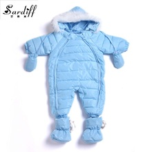 2017 Chirldren's Clothing Girl Boys Duck Down Baby Easter Jackets Snowsuit Girls Newborn Hood Clothes Snow Suits Infant Outwear