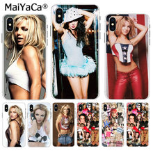 MaiYaCa Britney Spears Mode collage Luxury High-end phone Accessories case for Apple iPhone 8 7 6 6S Plus X XS max 5 5S SE XR(China)