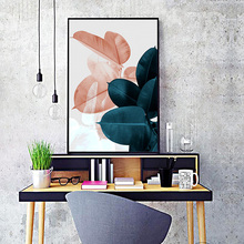 Nordic Style Watercolor Plant Leaves Poster Art Print Landscape Wall Canvas Painting Picture For Living Room Home Decoration