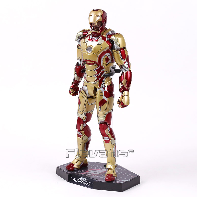 Image 5 - Hot Toys Marvel Iron Man Mark XLII MK 42 with LED Light 1/6 Scale PVC Figure Collectible Model Toy-in Action & Toy Figures from Toys & Hobbies