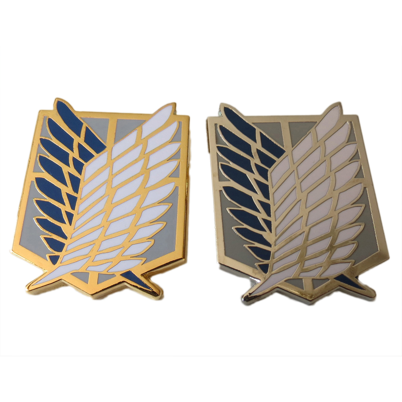 Cosplay Accessories Attack On Titan Badge Investigation Corps Freedom Wings Cos Metal Emblem Anime Cosplay Badge Anime Badge