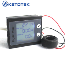 AC 80-260V 100A AC Ammeter Voltmeter Power / Energy Meter Gauge Voltimetro Amperimetro with STN LCD Backlight
