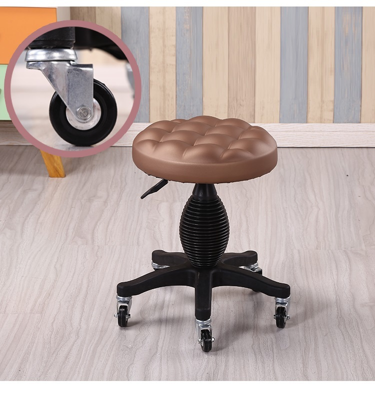 Western European Fashion Beauty Shop Massage Lift Stool Gold Black Coffee Red Color Chair Furniture Wholesale