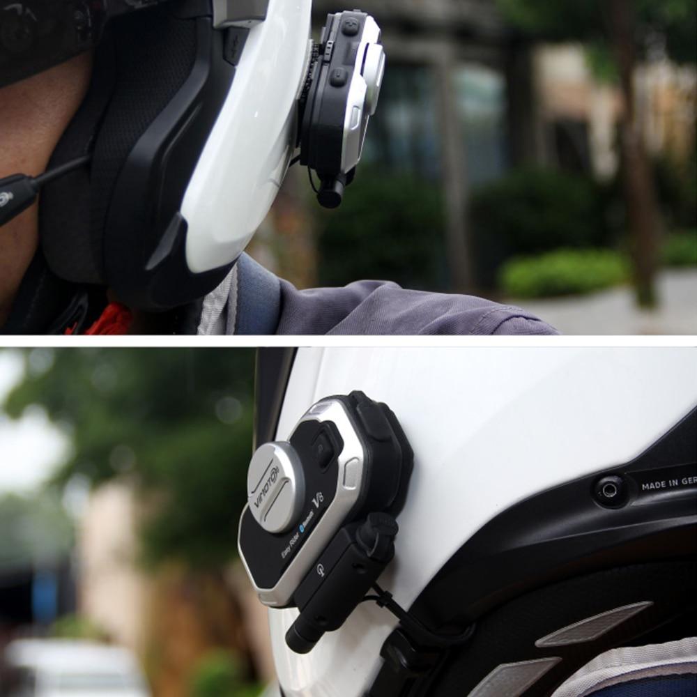 Vimoto 2 sztuk V8 Kask Motocyklowy Zestaw słuchawkowy Interkom - Akcesoria motocyklowe i części - Zdjęcie 6