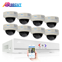 Newest 8CH 1080N HDMI CCTV System 720P 1800TVL HD Outdoor Vandalproof CCTV Dome Camera Home Video