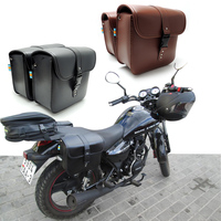 Universal Motorcycle Bag for Harley Sportster XL883 XL1200 for Honda for Yamaha Cruiser PU Leather Motorcycle Saddle Bags