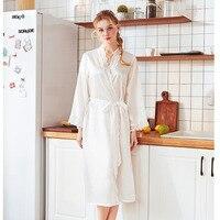 Women pajamas Lace Female Robe Silk Kimono Bathrobe 2019 Spring Summer Sweet Women Robe Elegant Bride Robes Satin Dress