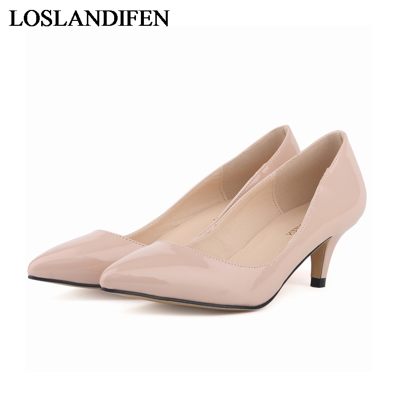 Panic Buying Rome 2018 New Fashion Pumps Shoes Pointed Toe High Heels Plus Big Size 35-42 Red Wedding Shoes Women NLK-B0151
