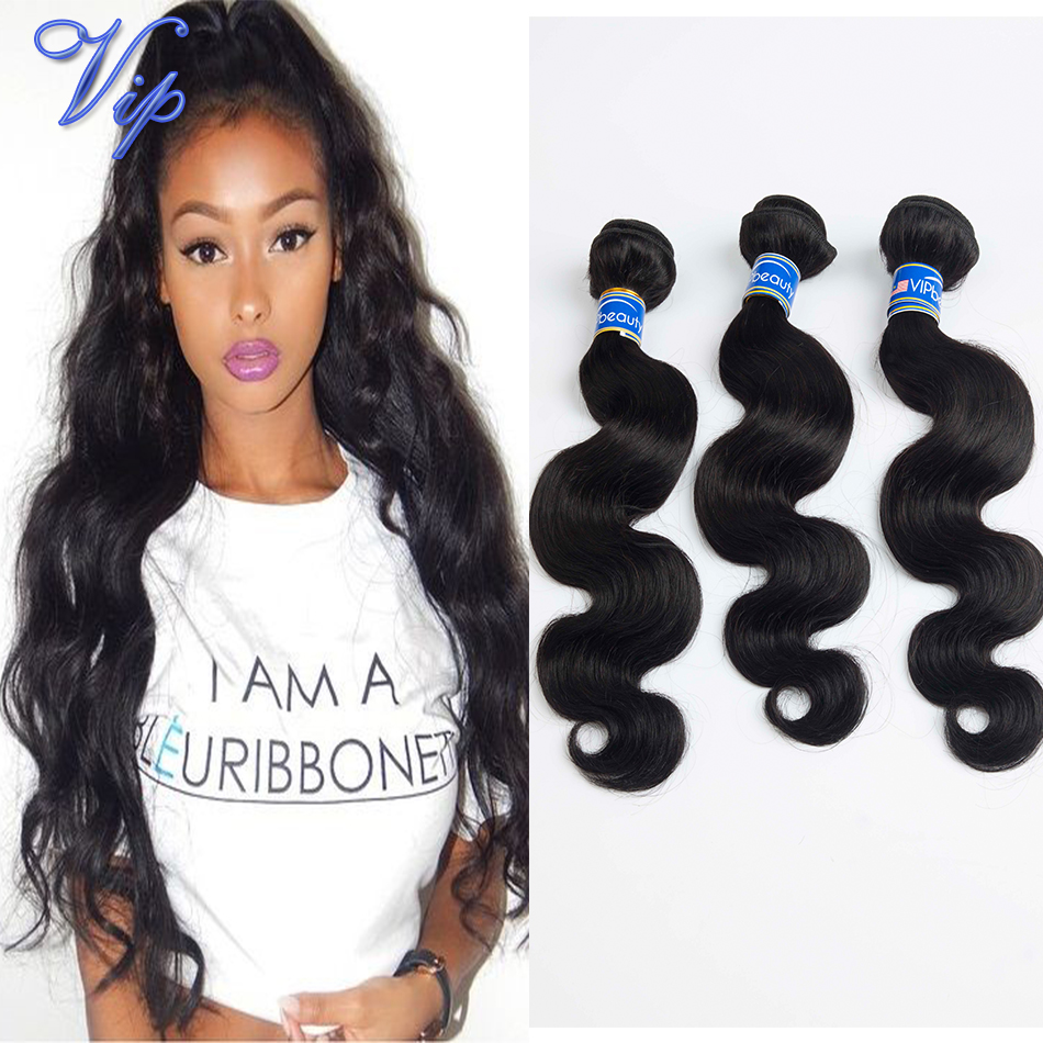 Malaysian Body Wave Virgin Hair 4 Bundles mix length natural Cheap Human weave - VIP Beauty Products Co.,Ltd store
