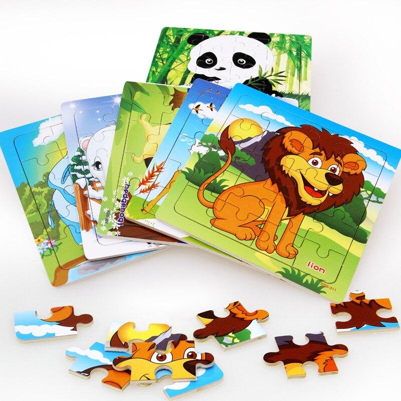 Дешевая 3D деревянная головоломка развивающая детская обучающая игрушка подарок животный пазл для младенцев детей горячая распродажа