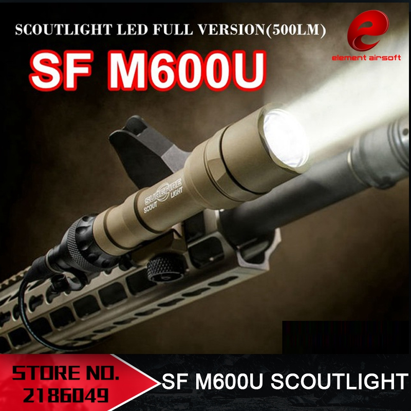 Element Airsoft M600U Flashlight LED CREE LED XP-G R5 Picatinny Pistol Light Full Version Memburu Kalis Air M600 Light EX356