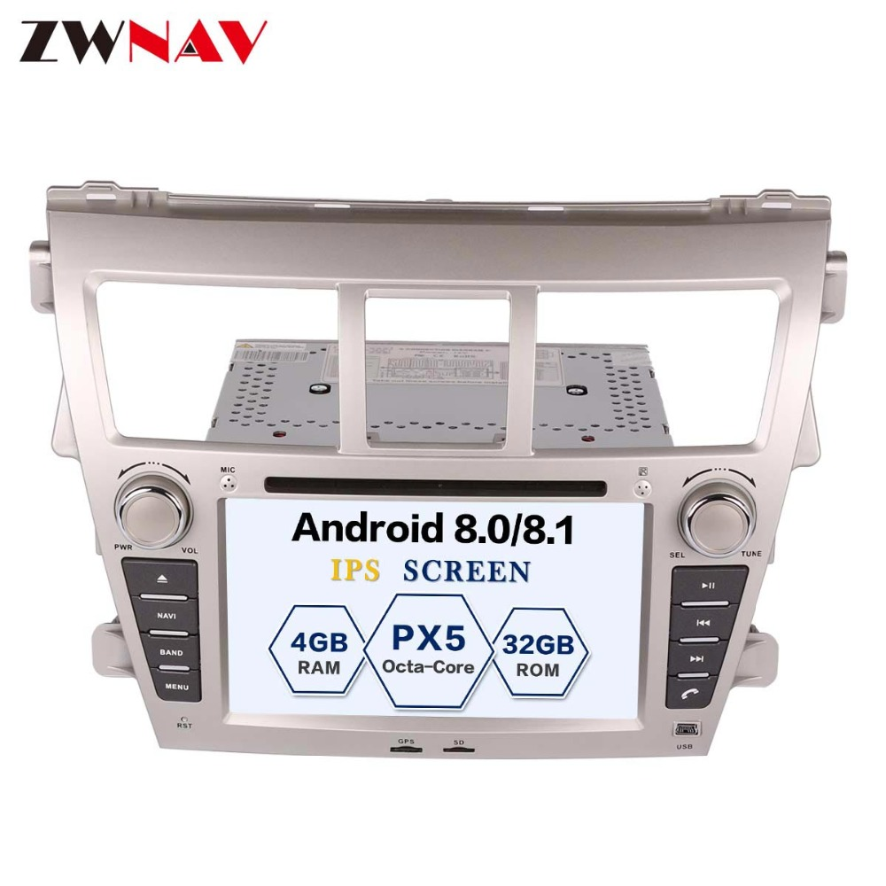 Sale ZWNAV Android 8.0 Car Stereo Radio DVD Player GPS Navigation For TOYOTA Yaris Sedan 2006-2012 Vios 2007-2012 Belta 2005-2008 1