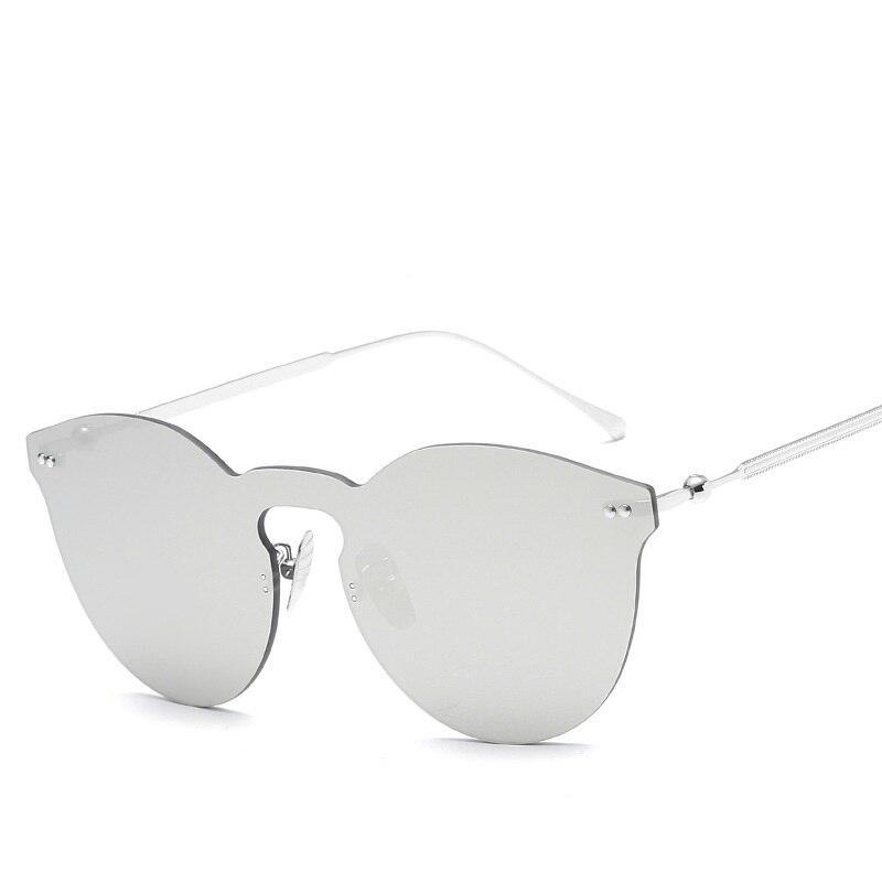 Reflect Metal Sungalsses Women and Men Slim Fashion New Retro eyeglasses Metal Mirror Lens eyeglasses Fashion
