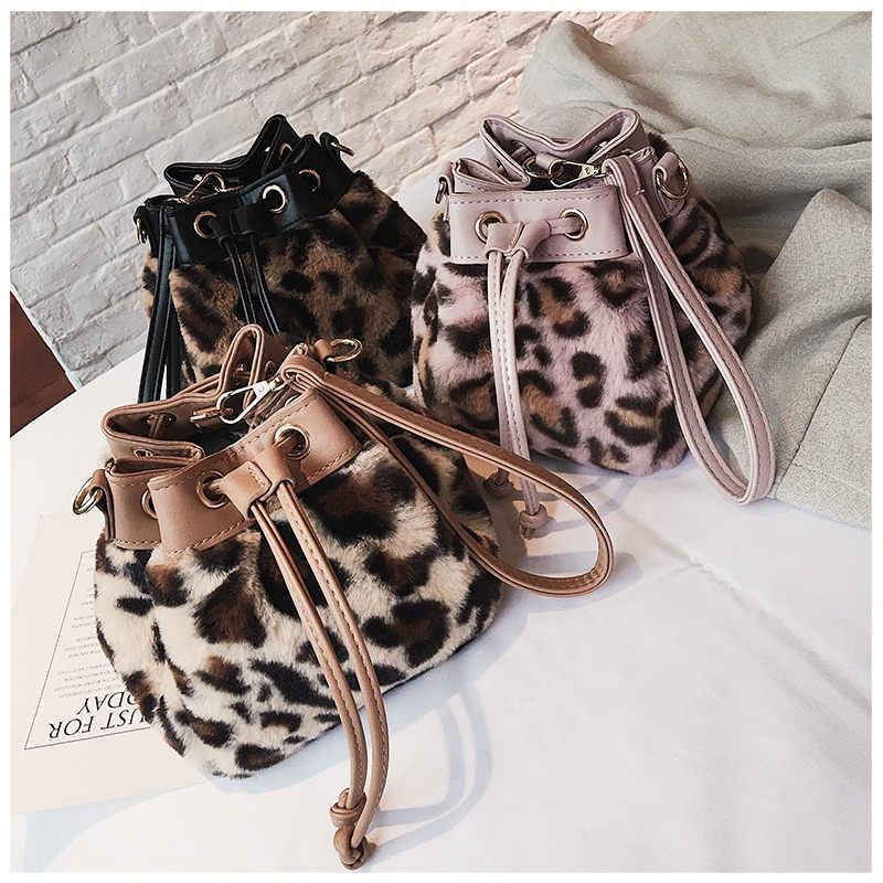 f9013578f265 ... New Women Plush Tassel Shell Messenger Bags Shoulder Bag Solid Female  Brand Leopard Designer Winter Cony ...
