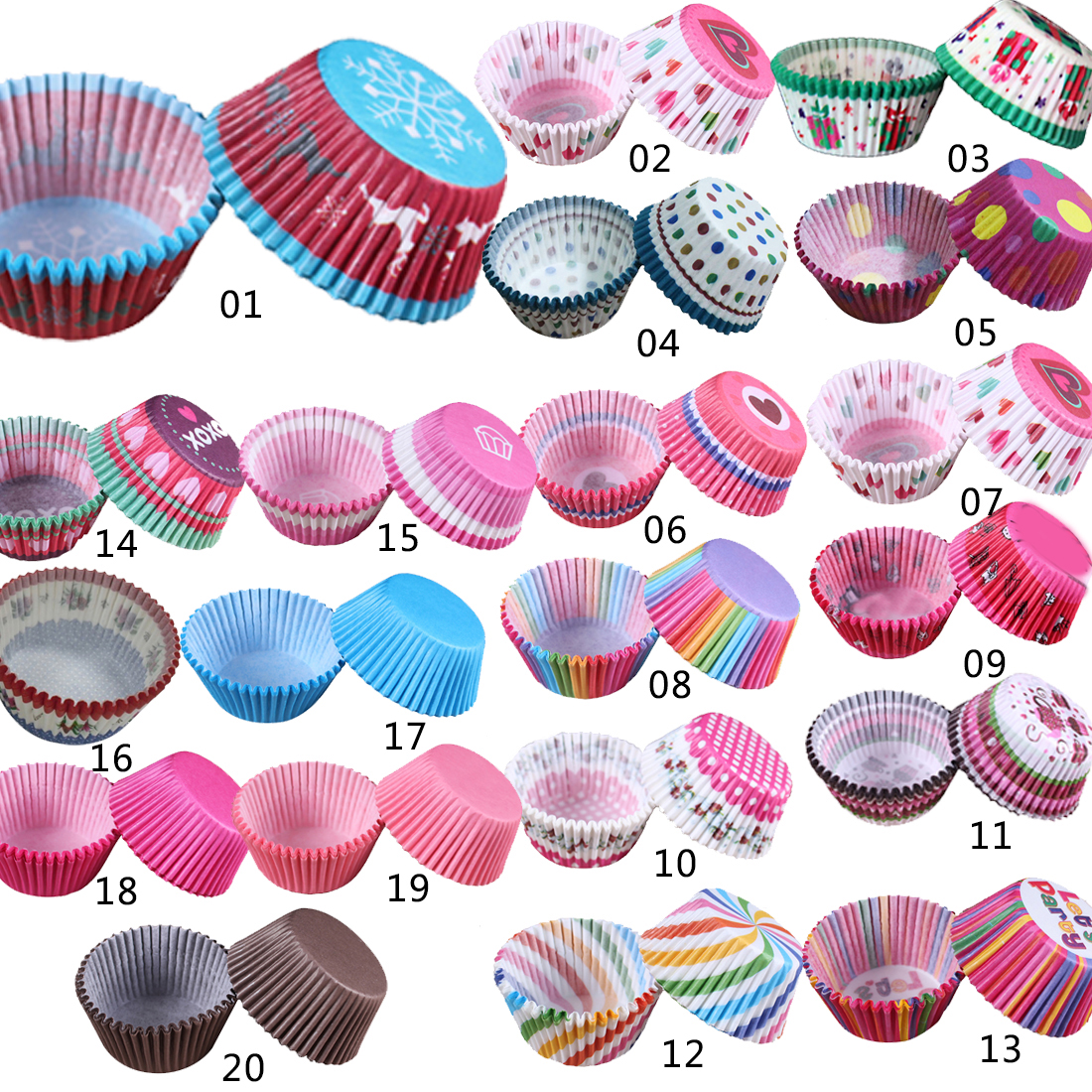 Great 100 pcs/lot Cooking Tools Grease-proof Paper Cup Cake Liners Baking Cup Muffin Kit ...