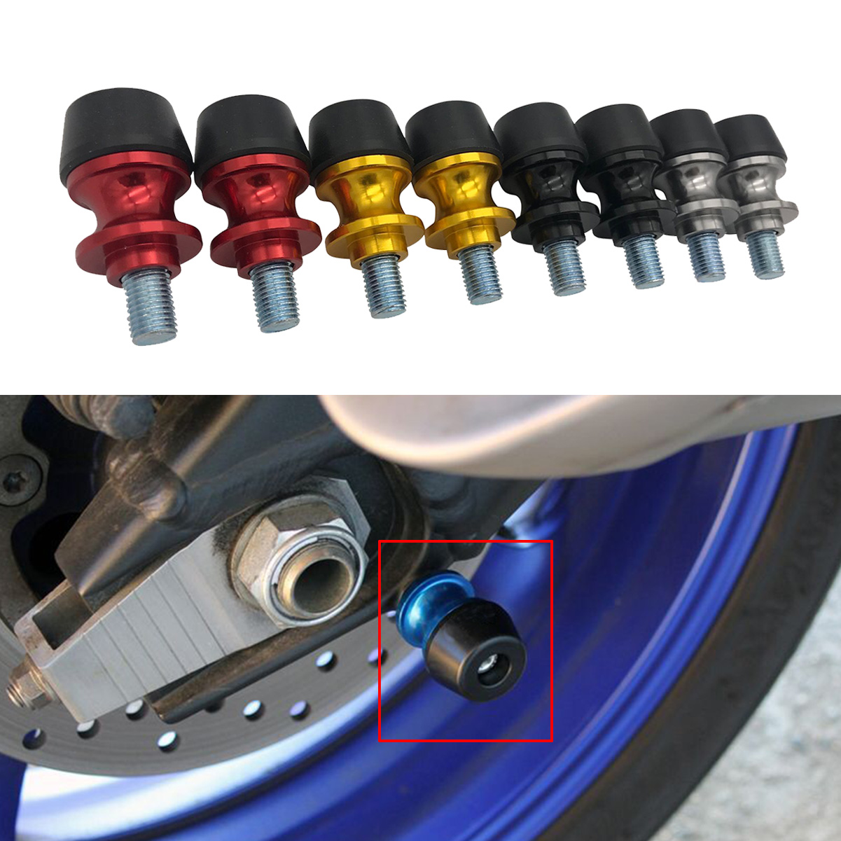 CNC Motorcycle Swingarm Spools Sliders For Kawasaki Ninja ZX6R ZX10R ZX12R ZX14R