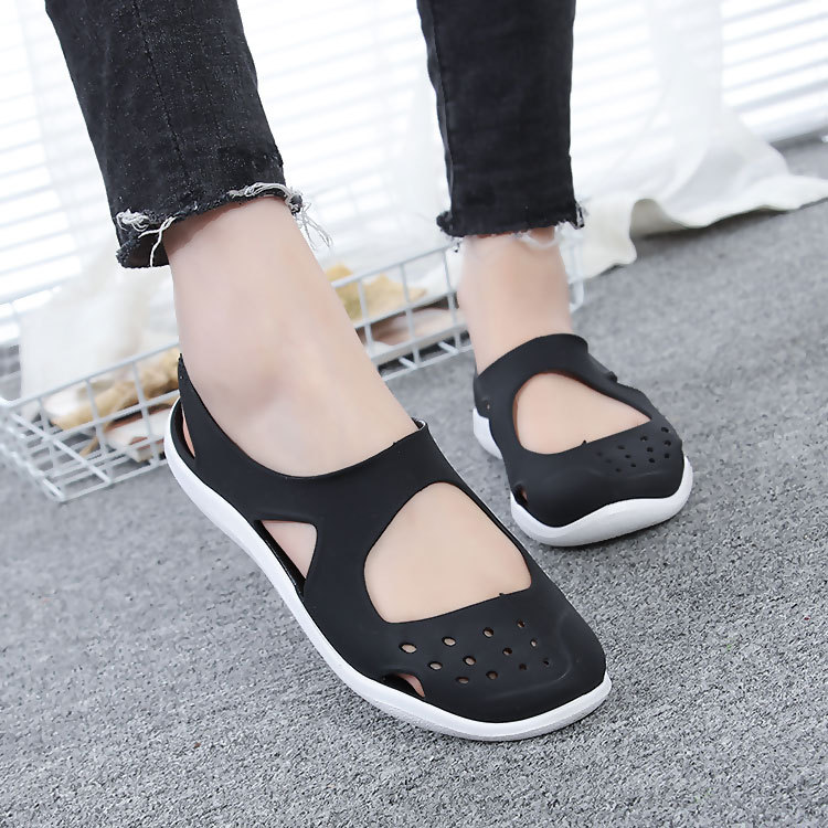 HTB17Qx0bEjrK1RkHFNRq6ySvpXaS - Women's Sandals Fashion Lady Girl Sandals Summer Women Casual Jelly Shoes Sandals Hollow Out Mesh Flats Beach Sandals