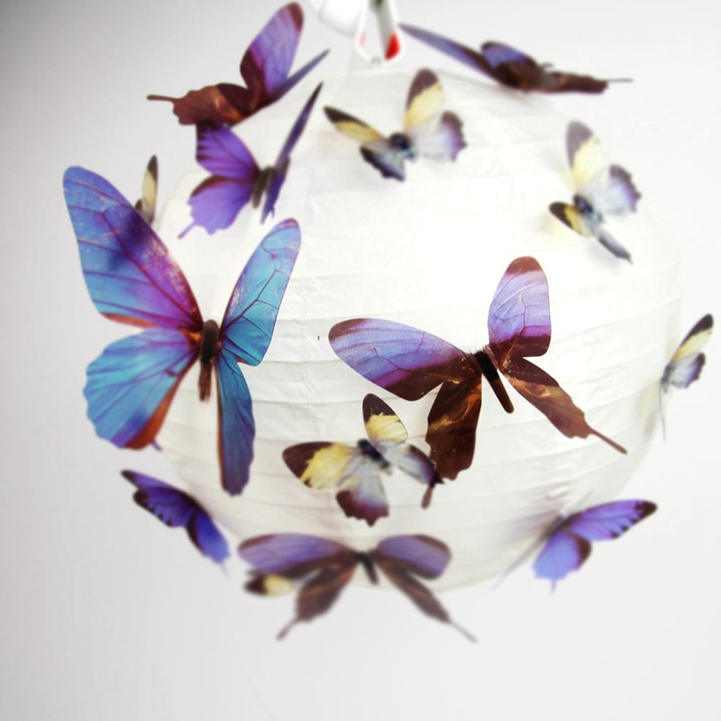 Beautiful DIY 3D Butterfly Wall Stickers 18pcs/set Art Decal PVC Paper For Office Home Fridge Decoration Showcase C0